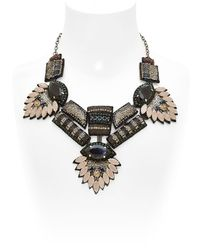 Deepa Gurnani | Black Mergers And Acquisitions Necklace | Lyst