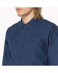 Tommy Hilfiger - Blue Cotton Shirt for Men - Lyst