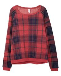 Alternative Apparel | Red Dash Printed Eco-fleece Sweatshirt | Lyst