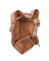 Tory Burch - Brown Thea Bucket Bag - Bark - Lyst