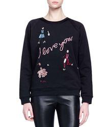 Lanvin - Black Crystal-Embellished Sweater - Lyst