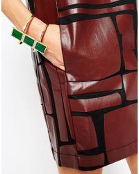 ASOS - Green Square Cuff Bracelet - Lyst