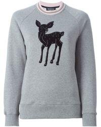 Markus Lupfer - Gray Deer Print Sweatshirt - Lyst