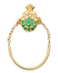 Galleria Armadoro - Green X Nordstrom 'pineapple' Cubic Zirconia Ring - Lyst