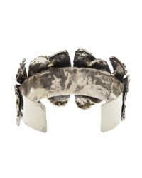 Anndra Neen | Metallic 'melted Flower' Cuff | Lyst