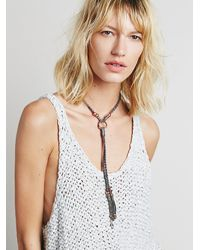 Free People - Gray Womens Lawless Leather Bolo - Lyst