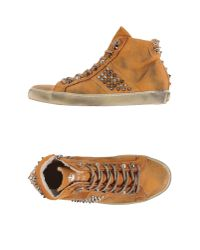 Leather Crown | Brown High-tops & Trainers for Men | Lyst