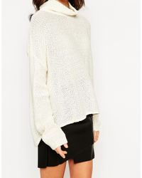 Daisy Street - Natural Textured Slouchy Cape Jumper - Lyst