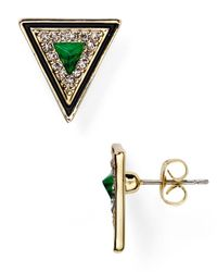House of Harlow 1960 | Green 1960 Teepee Triangle Stud Earrings | Lyst