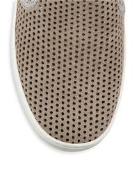 MICHAEL Michael Kors | Gray Brett Perforated Suede Slip-on Sneakers | Lyst