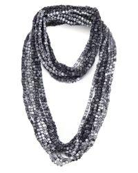 Jianhui - Gray Pashmina Chain Necklace - Lyst