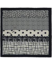 Pierre Louis Mascia - Black and White Multiprint Silkblend Scarf - Lyst