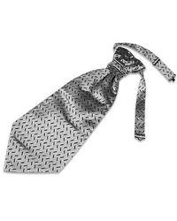 FORZIERI - Metallic Silver Mono Tail Plastron for Men - Lyst