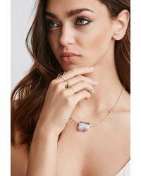 Forever 21 - Metallic Luna Norte Druzy Necklace - Lyst
