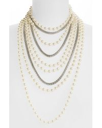 TOPSHOP | Metallic Multirow Necklace | Lyst