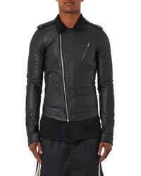 Rick Owens - Black Cashmere-Lined Leather Jacket for Men - Lyst