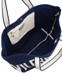Vilebrequin - Blue Mens Logo Canvas Tote Bag - Lyst