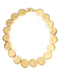 Lauren by Ralph Lauren | Metallic Gold-Tone Hammered Disc Necklace | Lyst