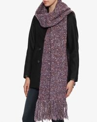 Exclusive For Intermix - Purple Long Fringe Flecked Scarf - Lyst