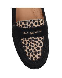 Carvela Kurt Geiger   Black Cali Suede Flat Loafers   Lyst