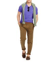 Polo Ralph Lauren | Purple V-neck Tee for Men | Lyst