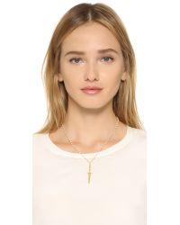 Pamela Love | Metallic Dagger Pendant Necklace | Lyst