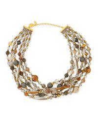 Jose & Maria Barrera - Multicolor Chunky Multi-Stone Necklace - Lyst