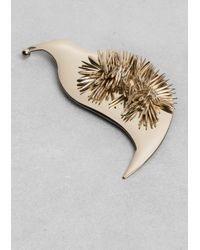 & Other Stories | Metallic Kiwi Bird Brooch | Lyst