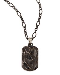 John Hardy | Metallic Men's Classic Chain Lava Dog Tag Chain Necklace for Men | Lyst