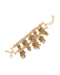 Oscar de la Renta - Metallic Ivy Gold-plated Crystal Bracelet - Lyst