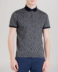 Ted Baker - Blue Spyda Printed Polo Shirt - Slim Fit for Men - Lyst