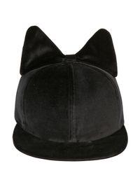 Federica Moretti - Black Frida Bow Cotton Velvet Baseball Hat for Men - Lyst