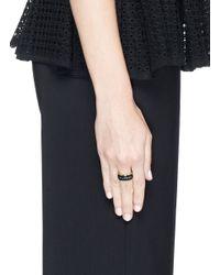 Alexander McQueen | Blue Enamel Logo Ring | Lyst