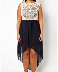 AX Paris - Natural Curve Printed Front Drop Back Dress - Lyst