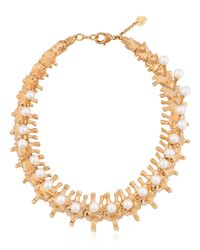 Schield | Metallic Backbone Necklace | Lyst