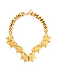 Ela Stone | Metallic Leopard Head Chain Necklace | Lyst