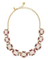 kate spade new york - Pink Garden Bed Gems Collar Necklace - Lyst