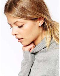 ASOS | Metallic Faux Pearl Sticks Earrings | Lyst