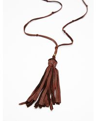 Free People | Brown Leather Tassel Pendant | Lyst