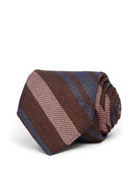 Eidos - Brown Striped Classic Tie for Men - Lyst