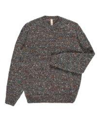 Paul Smith | Gray Men's Grey Alpaca-silk Blend Flecked Knitted Sweater for Men | Lyst