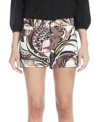 Emilio Pucci - Multicolor Printed Gabardine Shorts - Lyst