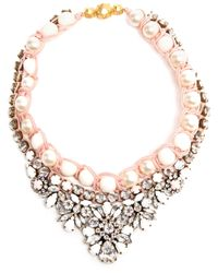 Shourouk | Pink Embellished Pearl Necklace | Lyst