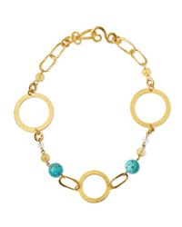 Stephanie Kantis | Metallic Love Gold-dipped Turquoise Necklace | Lyst