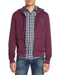 Original Penguin | Purple 'p55' Zip Hoodie for Men | Lyst