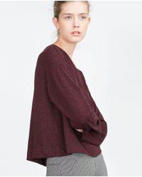 Zara | Purple Oversized Sweatshirt | Lyst