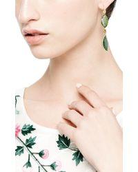 Mark Cross | Green Emerald Slice and Rough Diamond Earrings | Lyst
