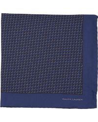 Ralph Lauren Black Label - Blue Graphic Pocket Square for Men - Lyst