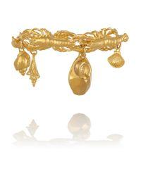 Virzi+de Luca | Metallic Lobster Ocean Gold-Plated Charm Bracelet | Lyst