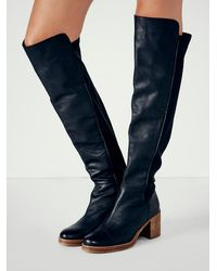 Free People - Black Sixty Seven Womens Landry Tall Boot - Lyst